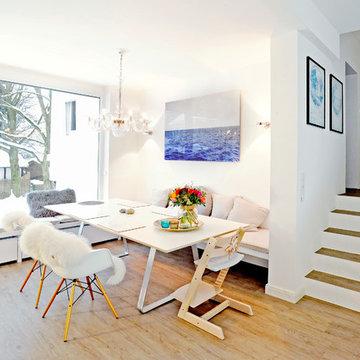 Moderne Küche in Weiß - Innenausbau