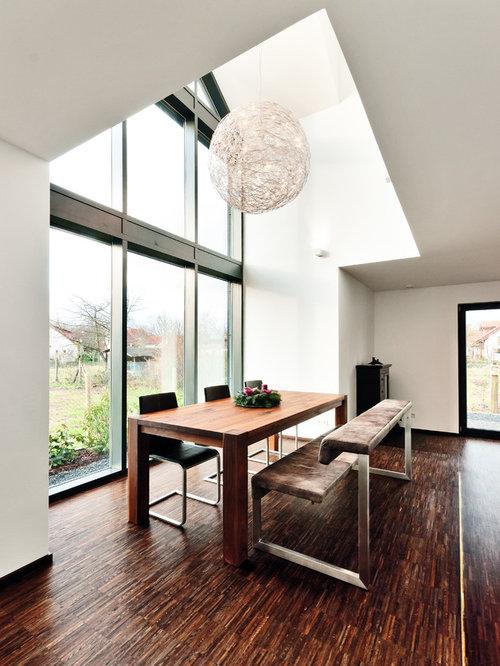 Moderne Esszimmer mit weißer Wandfarbe Ideen, Design & Bilder | Houzz