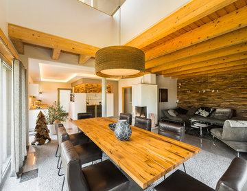 Projekt U1 | moderne Küche mit Ess- & Wohnzimmer