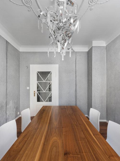 Geschlossene esszimmer mit dunklem holzboden design ideen - Esszimmer stuttgart ...