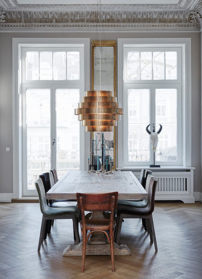 Eclectic Dining Room by Anja Lehne interior design