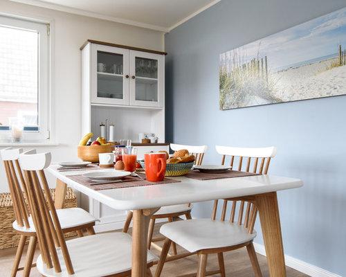 Esszimmer Mit Blauer Wandfarbe Ideen Design Bilder Houzz