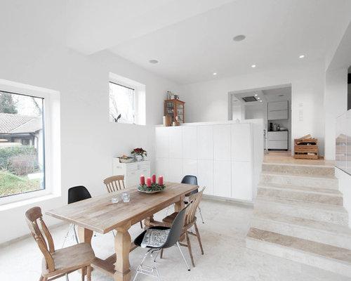Entzuckend Mittelgroßes, Offenes Landhaus Esszimmer Mit Weißer Wandfarbe In Hannover