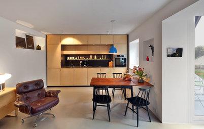 Vorher-Nachher: Eine Münchner Doppelhaushälfte, mit toller Treppe