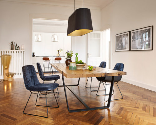 gro es esszimmer modern einrichten ideen houzz. Black Bedroom Furniture Sets. Home Design Ideas