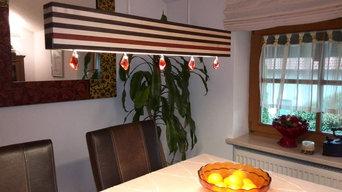 """Wohnraum LED-Edelholzleuchte """"Lukullus Padouk"""" - Luxillo"""