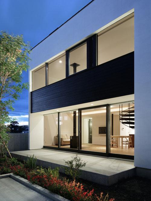 Modern Mixed Siding Exterior Design Ideas, Remodels & Photos on Modern Siding Ideas  id=91770