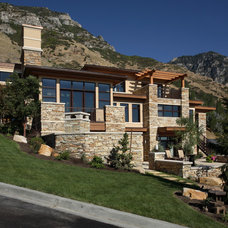 Contemporary Exterior by Magleby Construction