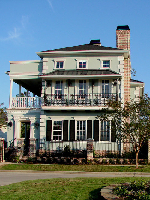 Brick Pillars And Wrought Iron Fence For Home Design Ideas