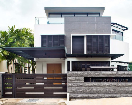 Marvelous Best Black And White House Design Ideas Remodel Pictures Houzz Largest Home Design Picture Inspirations Pitcheantrous