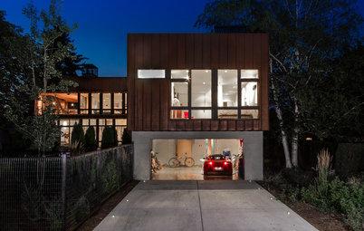Houzz Tour: Diagonals Make a Point on a Modern Montana Home