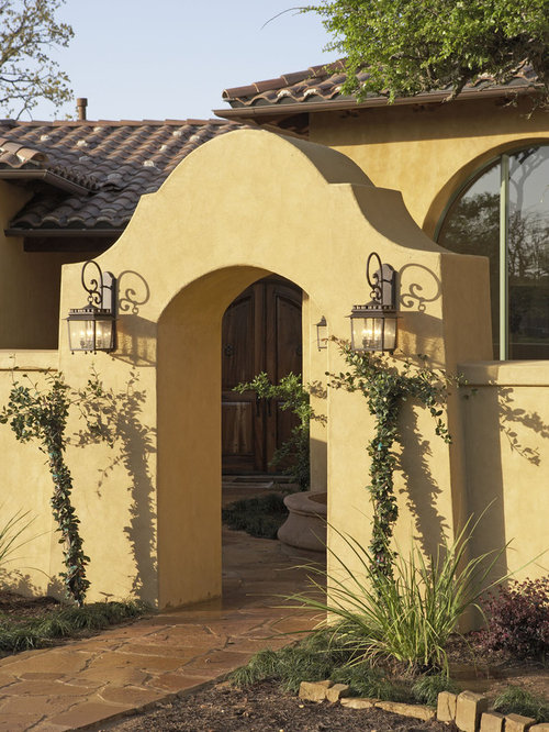 Spanish style gate houzz for Spanish style exterior