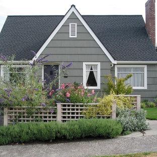 Inspiration för klassiska grå hus, med allt i ett plan