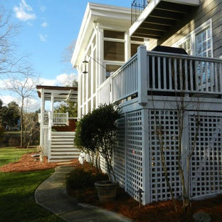 Inspiration for a craftsman exterior home remodel in Raleigh
