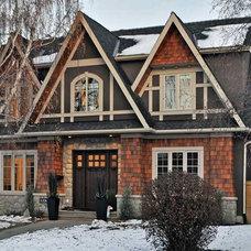 Traditional Exterior by EV Design Studio Inc.