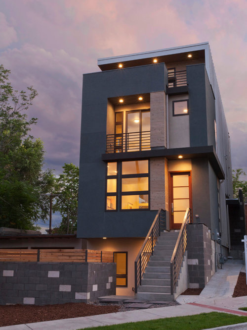 Modern townhouse home design ideas pictures remodel and decor Modern townhouse plans