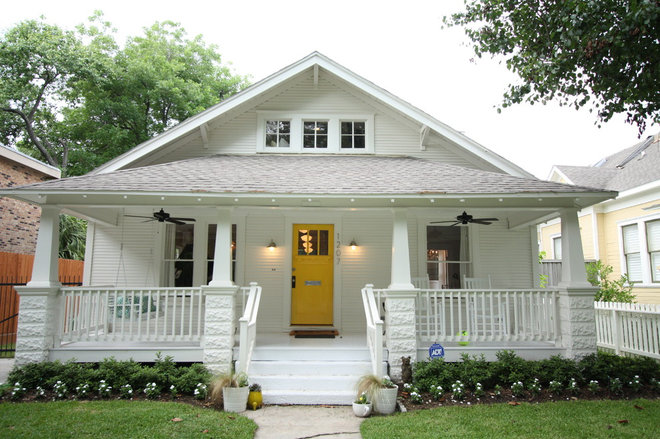 traditional exterior 1920 Craftsman Rehab in Houston Heights Historic District