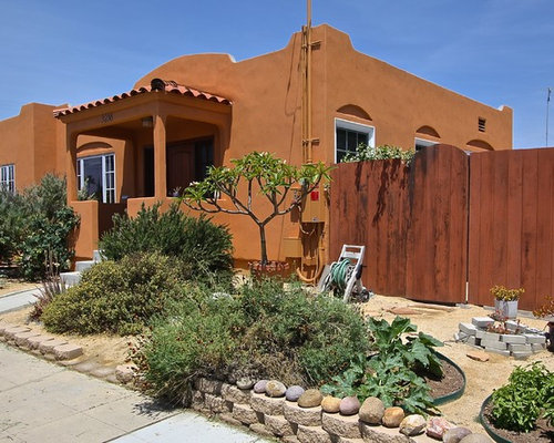 Small Southwestern Exterior Home Design Ideas Remodels