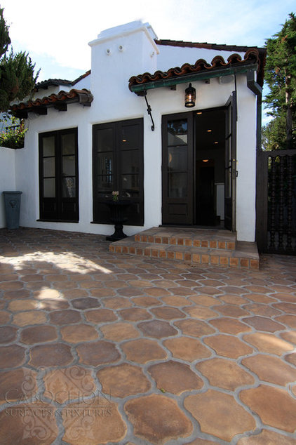 Mediterranean Exterior by Cabochon Surfaces & Fixtures