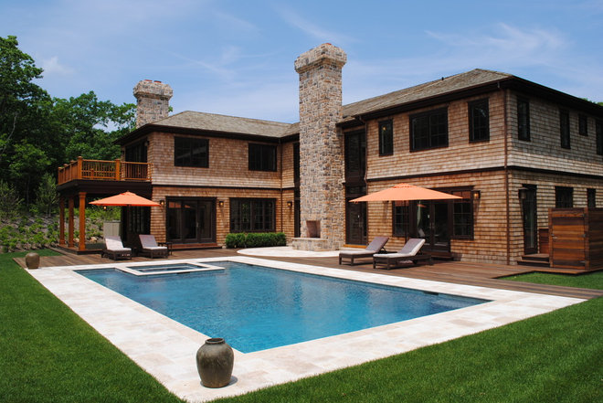 Traditional Exterior by Perello Building Corporation
