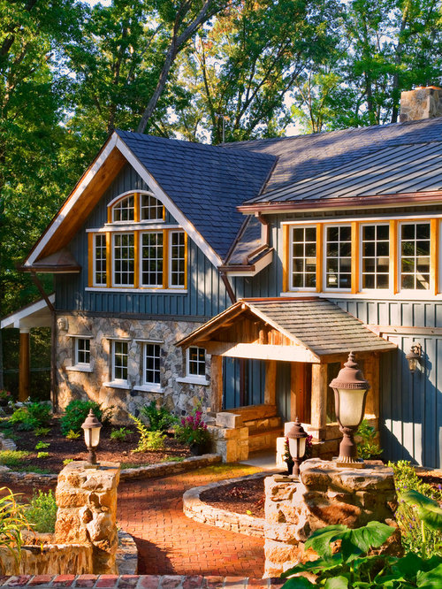 Best slate blue siding design ideas remodel pictures houzz for Rustic siding ideas