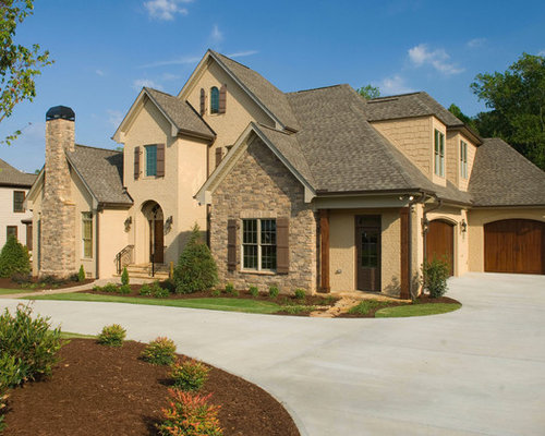 Stone And Painted Brick Home Design Ideas Pictures Remodel And Decor