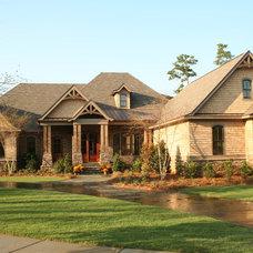 Craftsman Exterior by Bob Chatham Custom Home Design