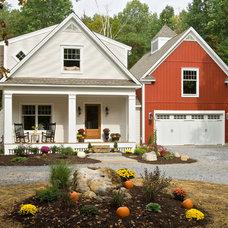 Farmhouse Exterior by Witt Construction