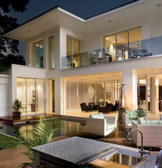 contemporary exterior by Phil Kean Designs