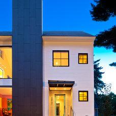 Modern Exterior by Quartersawn Design Build
