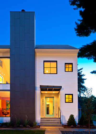Skip The Brick For A Statement Making Chimney