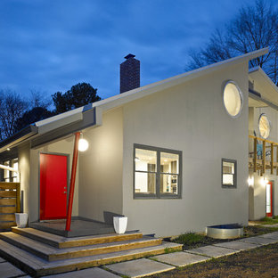 Minimalist gray two-story exterior home photo in Other