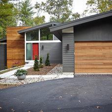 Midcentury Exterior by Rock Kauffman Design