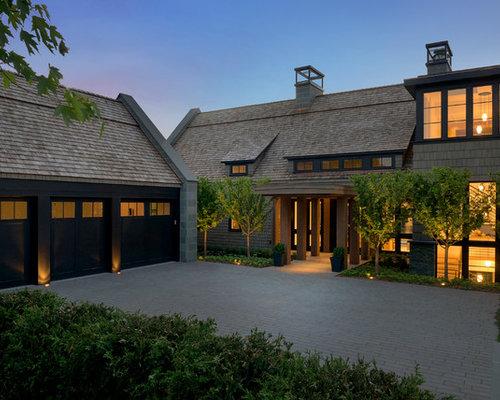 Exterior design ideas renovations photos with a mansard for Modern mansard roof