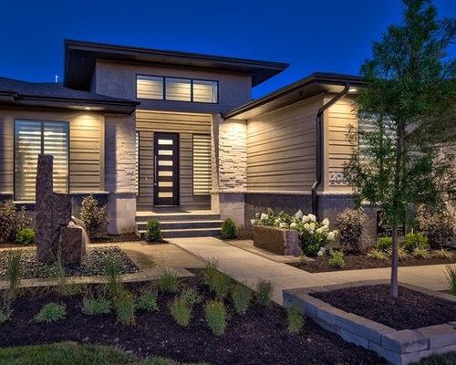 Modern omaha exterior design ideas renovations photos for Exterior remodel and design omaha