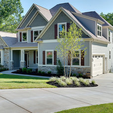 Transitional Exterior by Middlehouse Builders, Inc.
