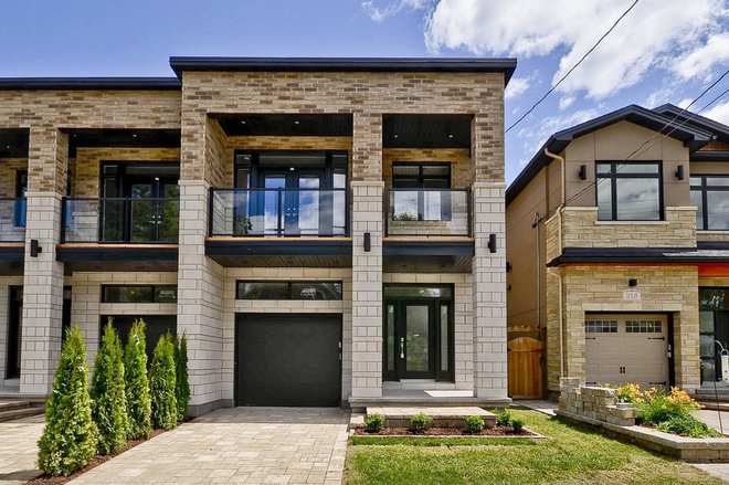 houzz modern exterior townhouse design