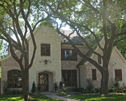 A romantic country french of stone and brick 230617 for French country brick exterior