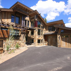 Rustic Exterior by Pinnacle Mountain Homes