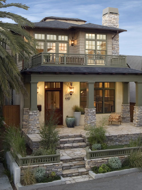 Craftsman style homes home design ideas pictures remodel and decor - Top notch image of home exterior decoration with clopay garage door ideas ...