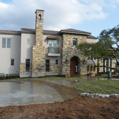 mediterranean exterior by David Mills Custom Homes