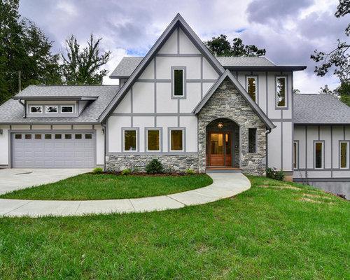 Transitional Exterior Home Ideas Design Photos Houzz