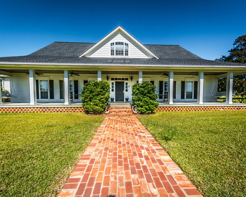 Wrap around porch on one story house exterior home design for One story house with wrap around porch