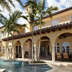 mediterranean exterior by W.A. Bentz Construction, Inc.