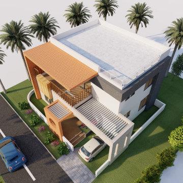 3BHK Bungalow Design Plan   Plot size - 35'x40'    North Facing   1500 Sqft