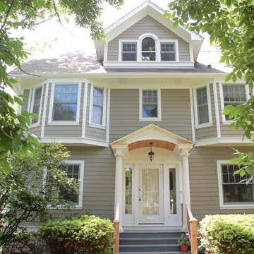4-Square Style Homes- Wilmette, IL in James Hardie Siding & Trim