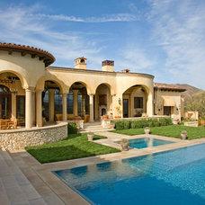 Mediterranean Exterior by Burdge & Associates Architects