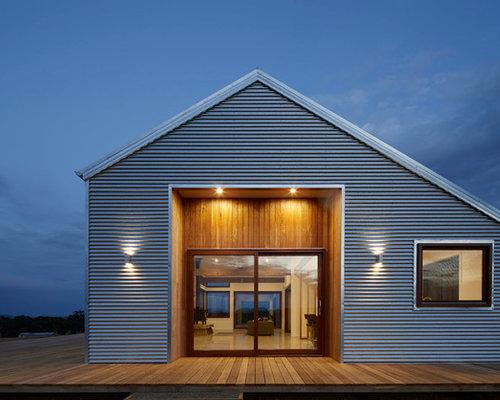 graue skandinavische h user und fassaden ideen f r die haus fassadengestaltung houzz. Black Bedroom Furniture Sets. Home Design Ideas