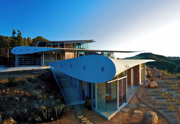 Contemporary Exterior by David Hertz & Studio of Environmental Architecture