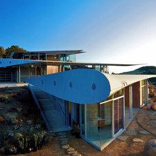 Contemporary Exterior by David Hertz & Studio of Environmental Architecture